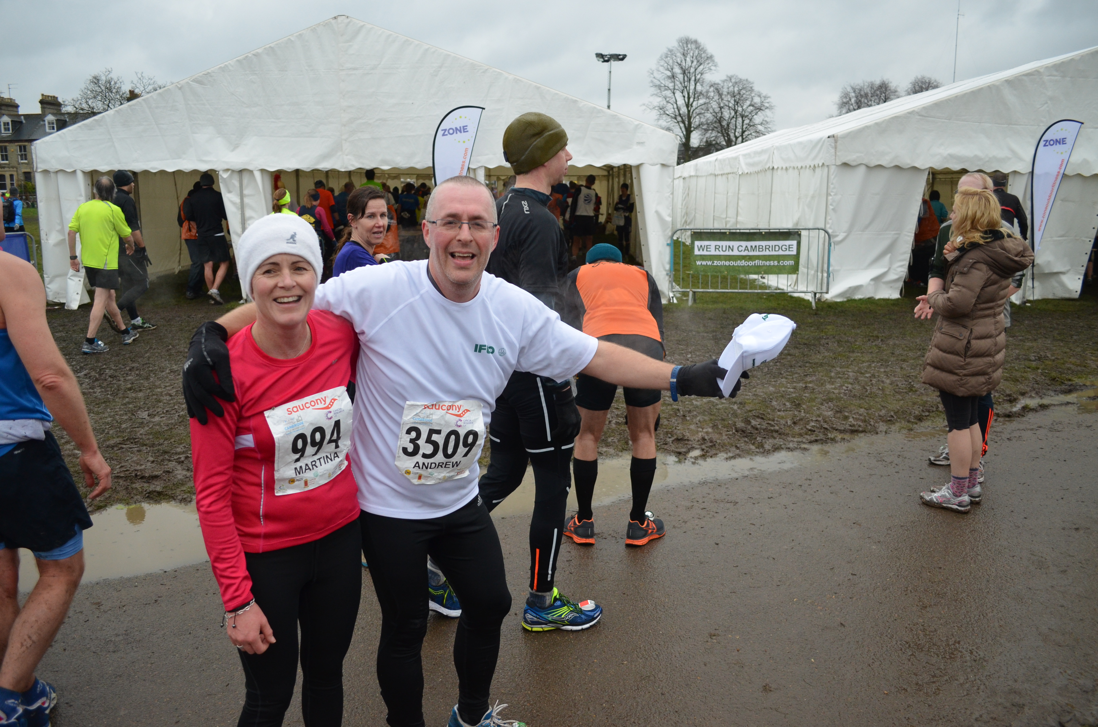 IFCO's Andy Beeching runs the Cambridge half marathon for the benefit of the Tower Hamlets Foodbank