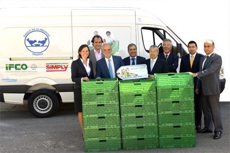 IFCO sponsors the first cooling van for Spanish food bank Banco de Alimentos in Madrid