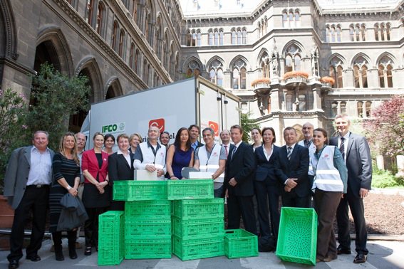 IFCO enables the Wiener Tafel's environmentally friendly transport of frozen food